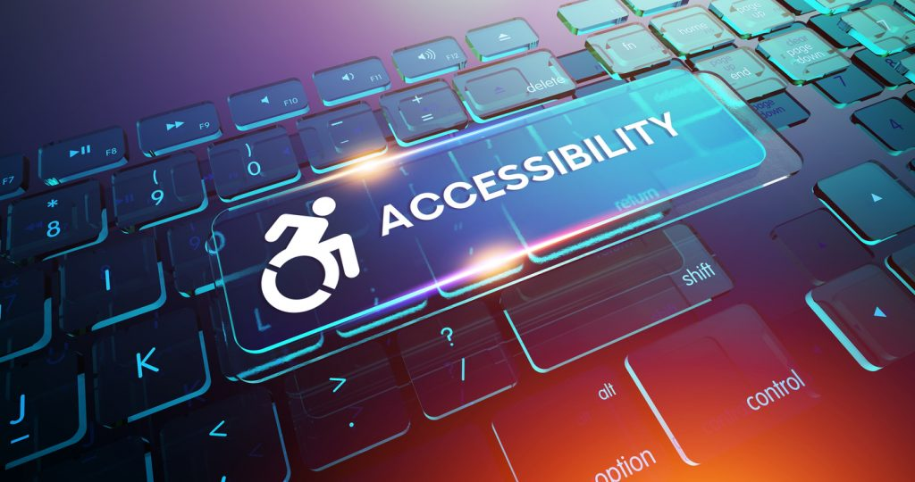 Accessibility Button on Computer Keyboard